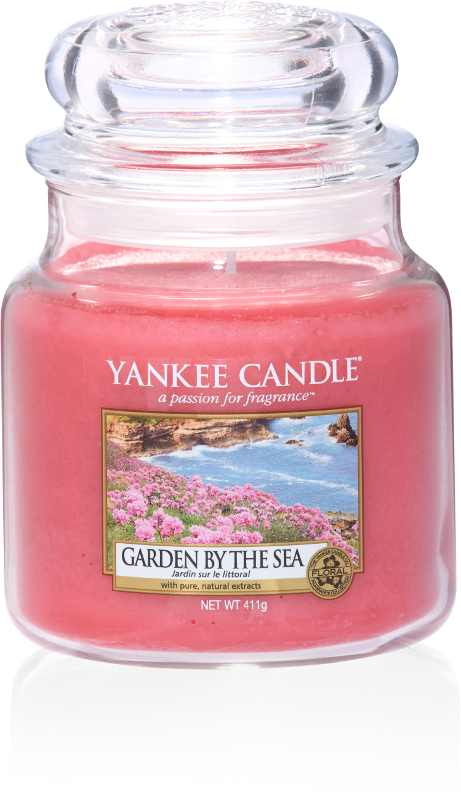 "Yankee Candle ""Garden by the Sea"" im mittleren Glas"