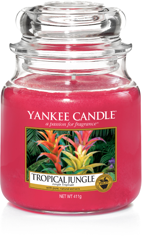 "Yankee Candle ""Tropical Jungle"" im mittleren Glas"