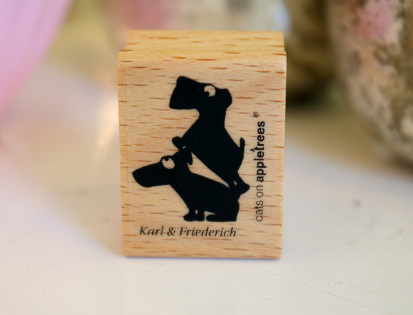 Stempel von Cats on Appletrees: Hunde Karl & Friederich
