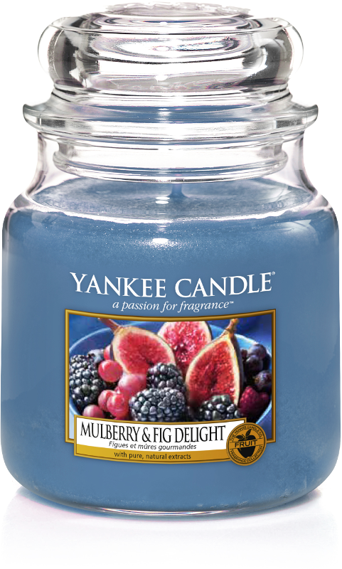 "Yankee Candle ""Mulberry & Fig Delight"" im mittleren Glas"