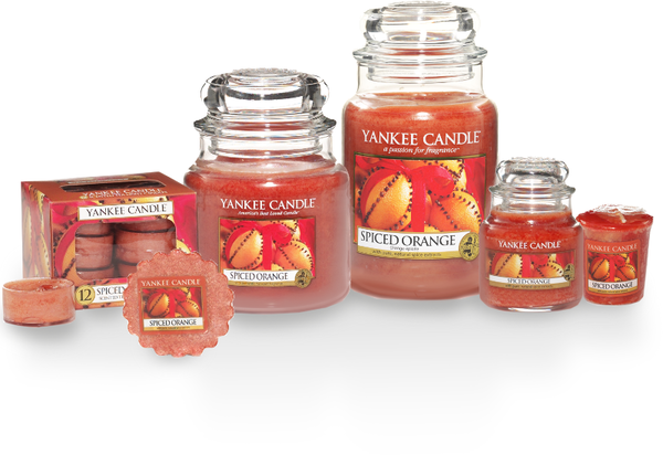 "Yankee Candle ""Spiced Orange"" im mittleren Glas"
