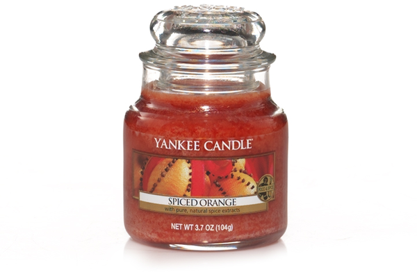 "Yankee Candle ""Spiced Orange"" im kleinen Glas"