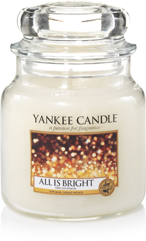 "Yankee Candle ""All is Bright"" im mittleren Glas"