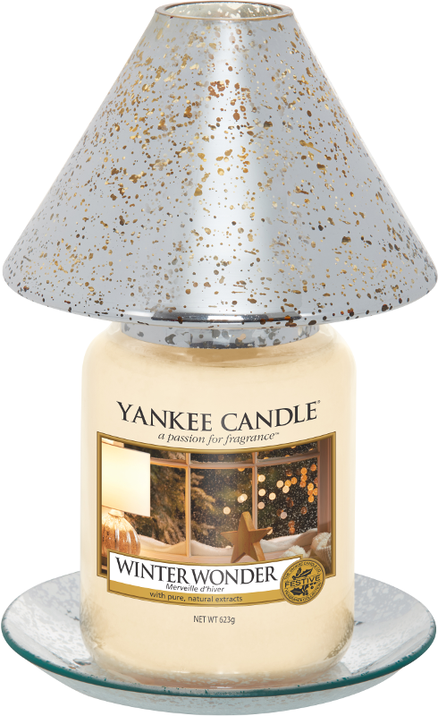 Yankee Candle Shimmer Glow Schirm & Teller (groß)