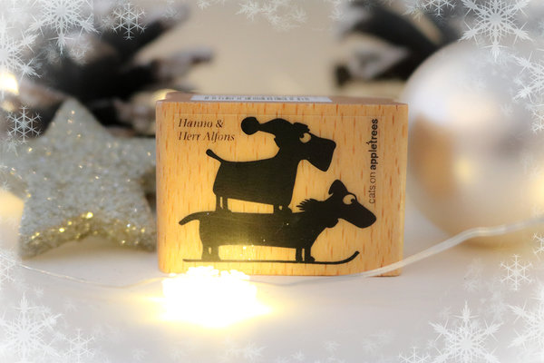 Stempel von Cats on Appletrees: Hunde Hanno & Herr Alfons