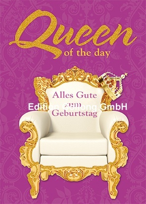 """Queen of the day"" Postkarte ♕"