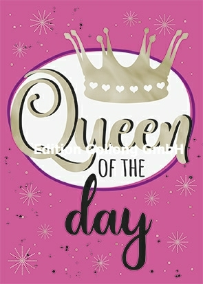 """Queen of the day"" Postkarte mit Heißfolien-Veredelung ♕"