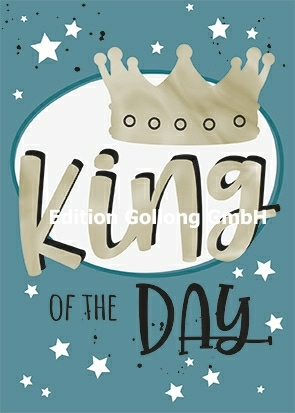 """King of the day"" Postkarte mit Heißfolien-Veredelung ♛"