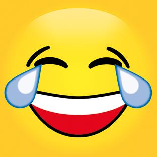 Candeko - Tränen lachen - Runde Smileypostkarte